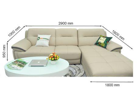 Kích thước sofa da mã sdn13t