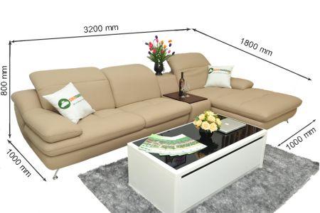 Kích thước sofa da mã sdn09t