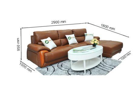 Kích thước sofa da mã sdn14t