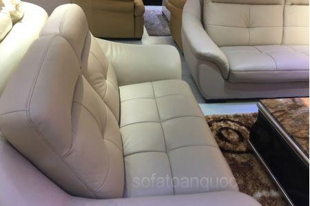 Bộ ghế sofa tiếp khách văn phòng bọc da  mã 154-4