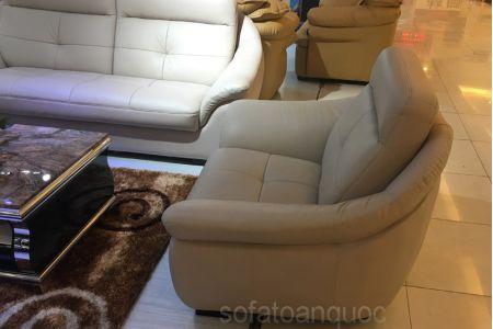 Bộ ghế sofa tiếp khách văn phòng bọc da  mã 154-5