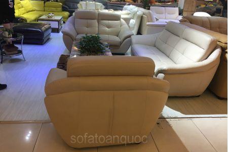 Bộ ghế sofa tiếp khách văn phòng bọc da  mã 154-6