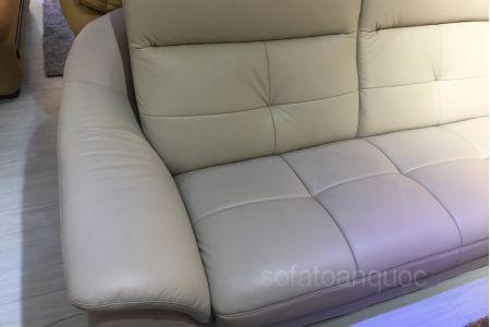 Bộ ghế sofa tiếp khách văn phòng bọc da  mã 154-7