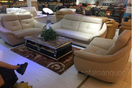 Bộ ghế sofa tiếp khách văn phòng bọc da  mã 154