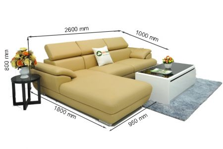 Kích thước sofa da mã sdn02p