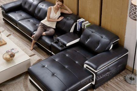 Bộ Ghế sofa da với chỗ để cốc mã 11 điểm cộng cho chất lượng-2