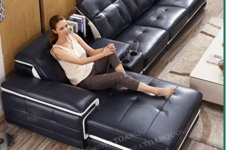 Bộ Ghế sofa da với chỗ để cốc mã 11 điểm cộng cho chất lượng-3