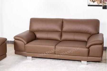Bộ ghế sofa da màu nâu cho người mệnh thổ mã 130-1