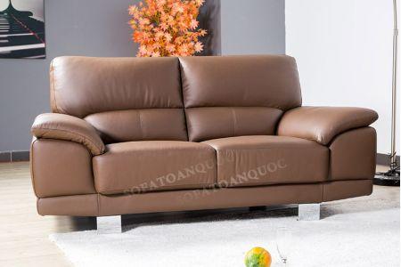 Bộ ghế sofa da màu nâu cho người mệnh thổ mã 130-2