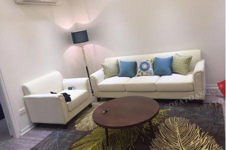 Mẫu sofa chung cư hiện đại bọc vải cho phòng khách mã 03-1