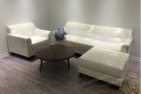 Mẫu sofa chung cư hiện đại bọc vải cho phòng khách mã 03-2