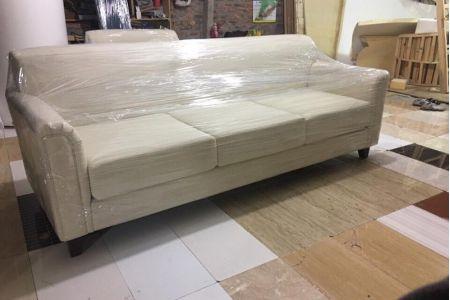 Mẫu sofa chung cư hiện đại bọc vải cho phòng khách mã 03-3