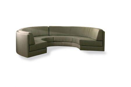 Mẫu Ghế Sofa Uốn Cong Chữ C Bọc Vải Nỉ Mã 11-3