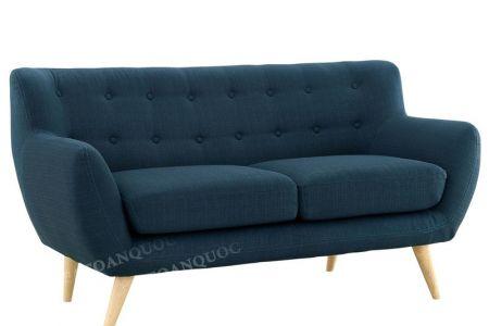 Bộ bàn ghế sofa vải nỉ bé vừa nhỏ bọc vải bộ 1-2-2 màu xanh ngọc cho phòng khách mã 31-2