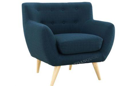 Bộ bàn ghế sofa vải nỉ bé vừa nhỏ bọc vải bộ 1-2-2 màu xanh ngọc cho phòng khách mã 31-3