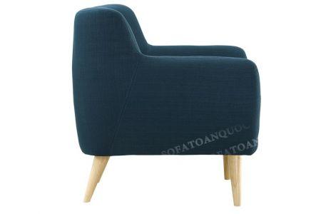 Bộ bàn ghế sofa vải nỉ bé vừa nhỏ bọc vải bộ 1-2-2 màu xanh ngọc cho phòng khách mã 31-4