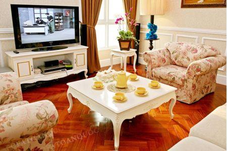 Mẫu bộ ghế sofa vải hoa lãng mạn mã 60-3
