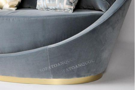 Mẫu ghế sofa văng đơn vải tròn hình lòng chảo mã 11-2