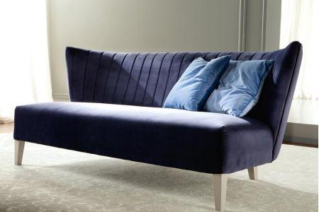 Mẫu ghế sofa văng đơn dài không tay vịn mã 18-1