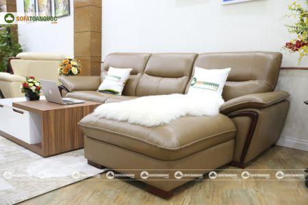Bộ ghế sofa da góc mã sdn23t-11