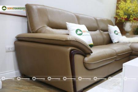 Bộ ghế sofa da góc mã sdn23t-12