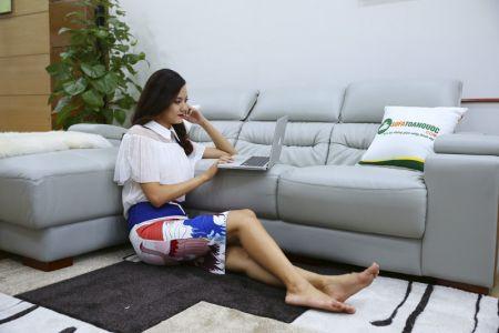 Bộ ghế sofa da góc phải mã sdn24p-2