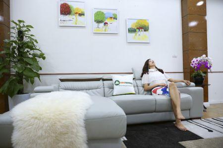 Bộ ghế sofa da góc phải mã sdn24p-4