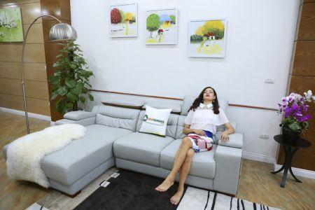 Bộ ghế sofa da góc phải mã sdn24p-5