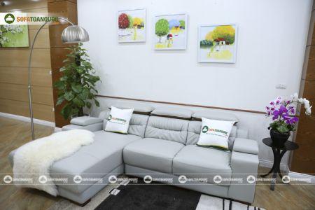 Bộ ghế sofa da góc phải mã sdn24p-8