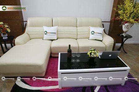 Bộ bàn ghế sofa da góc đẹp mã sdn27p-5