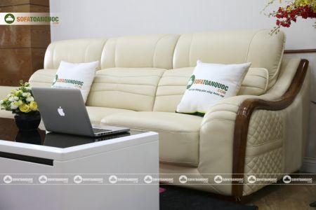 Bộ bàn ghế sofa da góc đẹp mã sdn27p-6