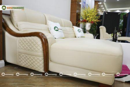 Bộ bàn ghế sofa da góc đẹp mã sdn27p-7