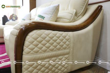 Bộ bàn ghế sofa da góc đẹp mã sdn27p-9