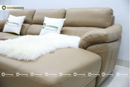 Bộ bàn ghế sofa da đẹp góc trái mã sdn21t-13