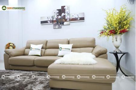 Bộ bàn ghế sofa da đẹp góc trái mã sdn21t-7