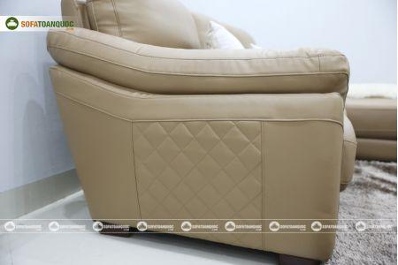 Bộ bàn ghế sofa da đẹp góc trái mã sdn21t-9