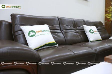 Bộ bàn ghế sofa da phong cách châu âu nhập khẩu mã sdn22t-12