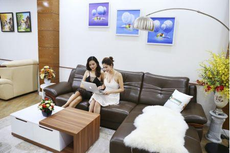 Bộ bàn ghế sofa da phong cách châu âu nhập khẩu mã sdn22t-3