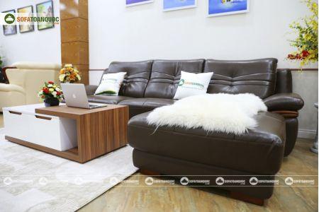 Bộ bàn ghế sofa da phong cách châu âu nhập khẩu mã sdn22t-6