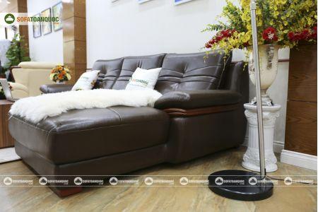 Bộ bàn ghế sofa da phong cách châu âu nhập khẩu mã sdn22t-9
