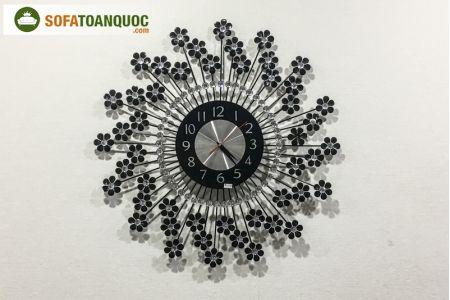 đồng hồ treo tường màu đen mã 03