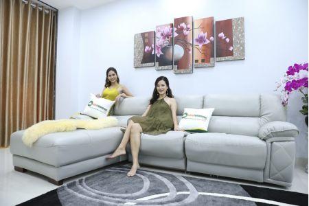 Bộ ghế sofa da điện tích hợp công nghệ nâng chân tự động mã VH-07P-1