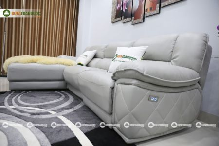 Bộ ghế sofa da điện tích hợp công nghệ nâng chân tự động mã VH-07P-11
