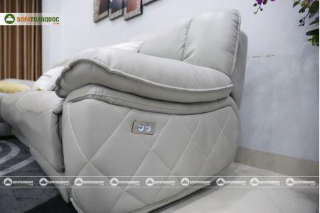 Bộ ghế sofa da điện tích hợp công nghệ nâng chân tự động mã VH-07P-12