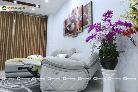 Bộ ghế sofa da điện tích hợp công nghệ nâng chân tự động mã VH-07P-13