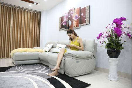 Bộ ghế sofa da điện tích hợp công nghệ nâng chân tự động mã VH-07P-2