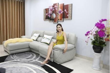 Bộ ghế sofa da điện tích hợp công nghệ nâng chân tự động mã VH-07P-3