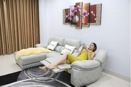 Bộ ghế sofa da điện tích hợp công nghệ nâng chân tự động mã VH-07P-5