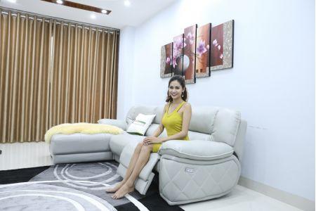 Bộ ghế sofa da điện tích hợp công nghệ nâng chân tự động mã VH-07P-7