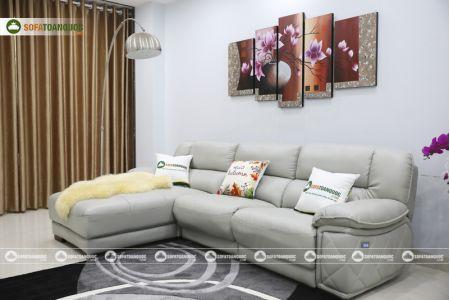 Bộ ghế sofa da điện tích hợp công nghệ nâng chân tự động mã VH-07P-9